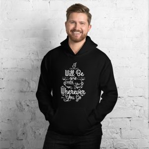 Joshua 1:9 (I Will Be Here) Men's Hooded Sweatshirt