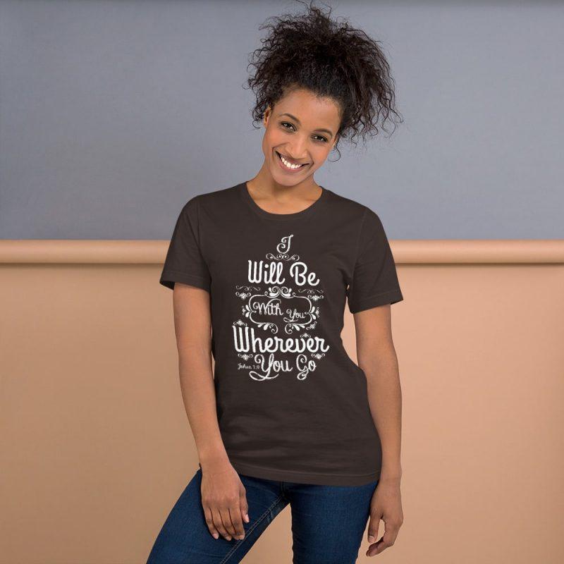 Joshua 1:9 (I will be here) Women Short-Sleeve T-Shirt