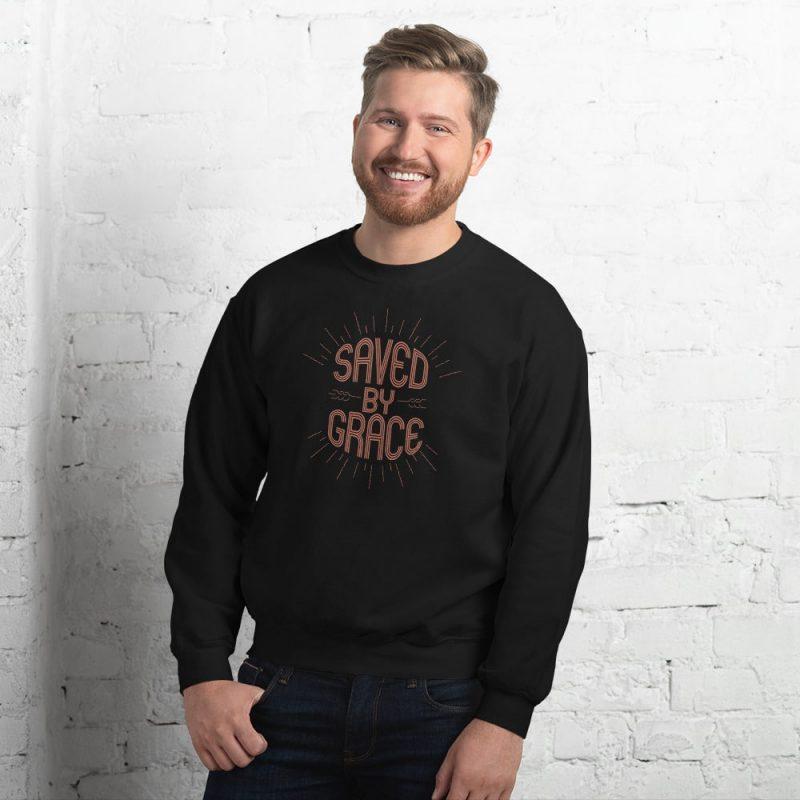 Saved by Grace Men's Sweatshirt