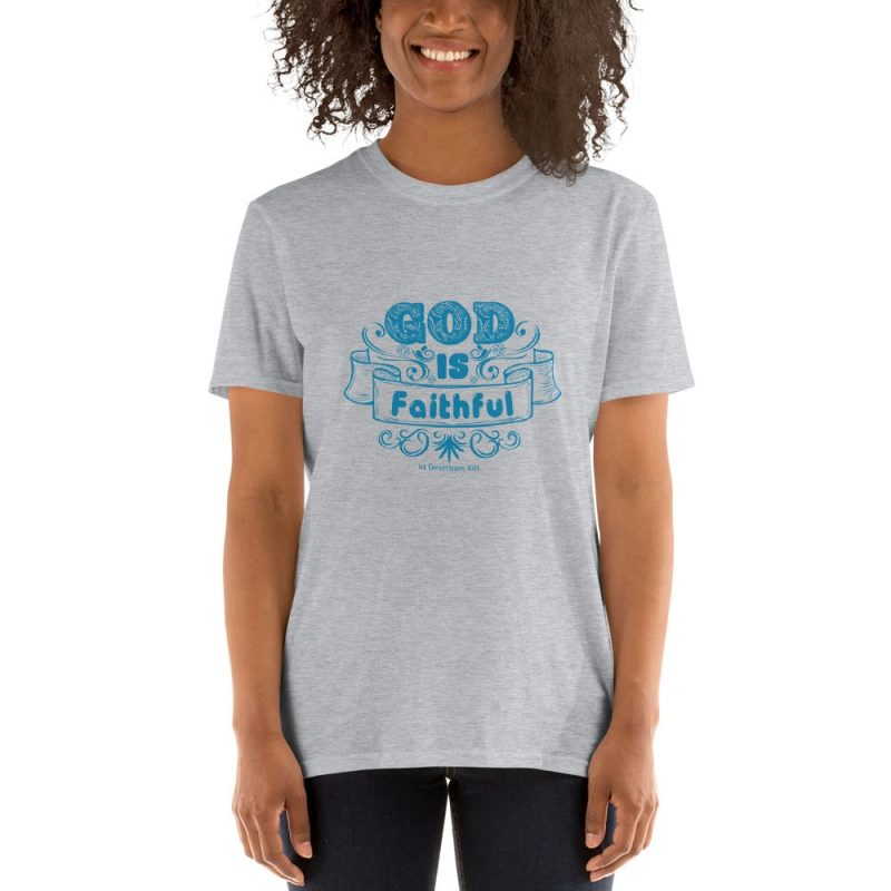 Feel Secured with 1 Corinthians 10:13 Women Short-Sleeve T-Shirt