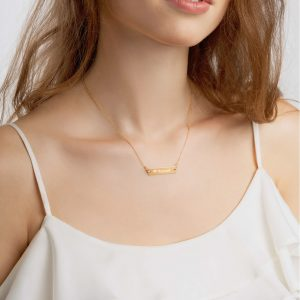 Beloved Engraved Bar Chain Necklace