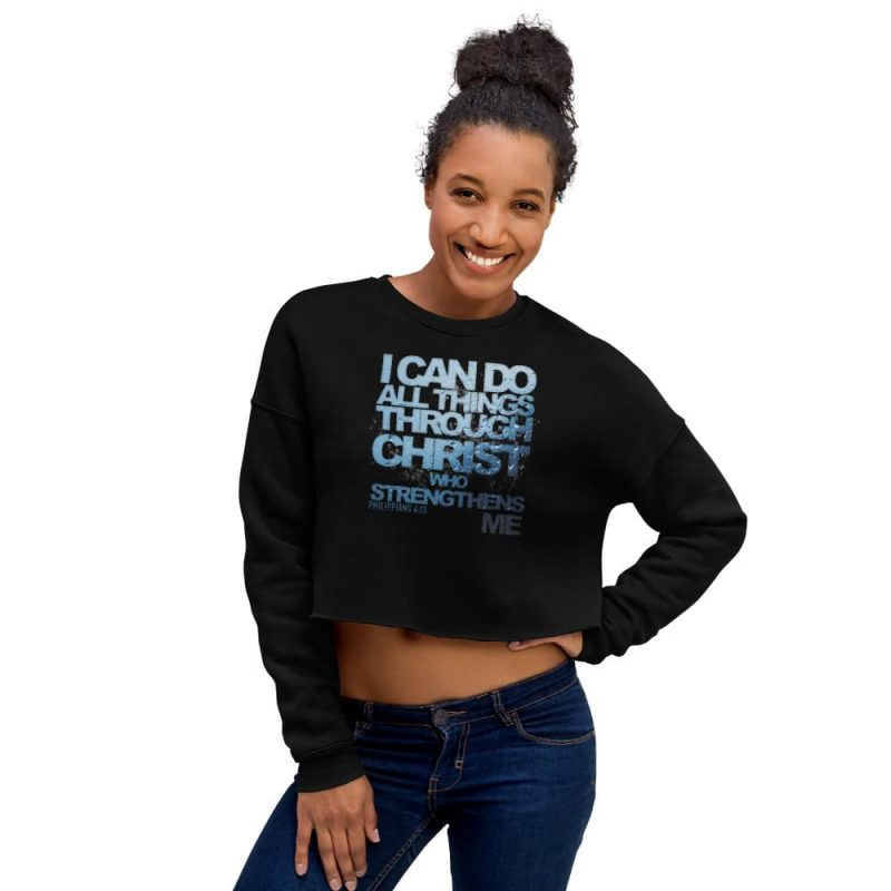 I Can Do All Things (Phil. 4:13) Women's Crop Sweatshirt