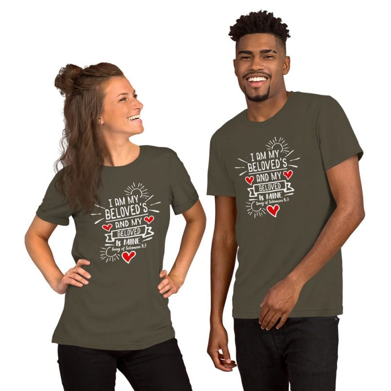 I Am My Beloved's and My Beloved is Mine (Song of Solomon 6:3) Couple Shirt